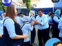 Apel Pagi PDAM Tirta Pakuan, Deni Apresiasi Kinerja Tim Pengamanan Gangguan Libur Lebaran 2019