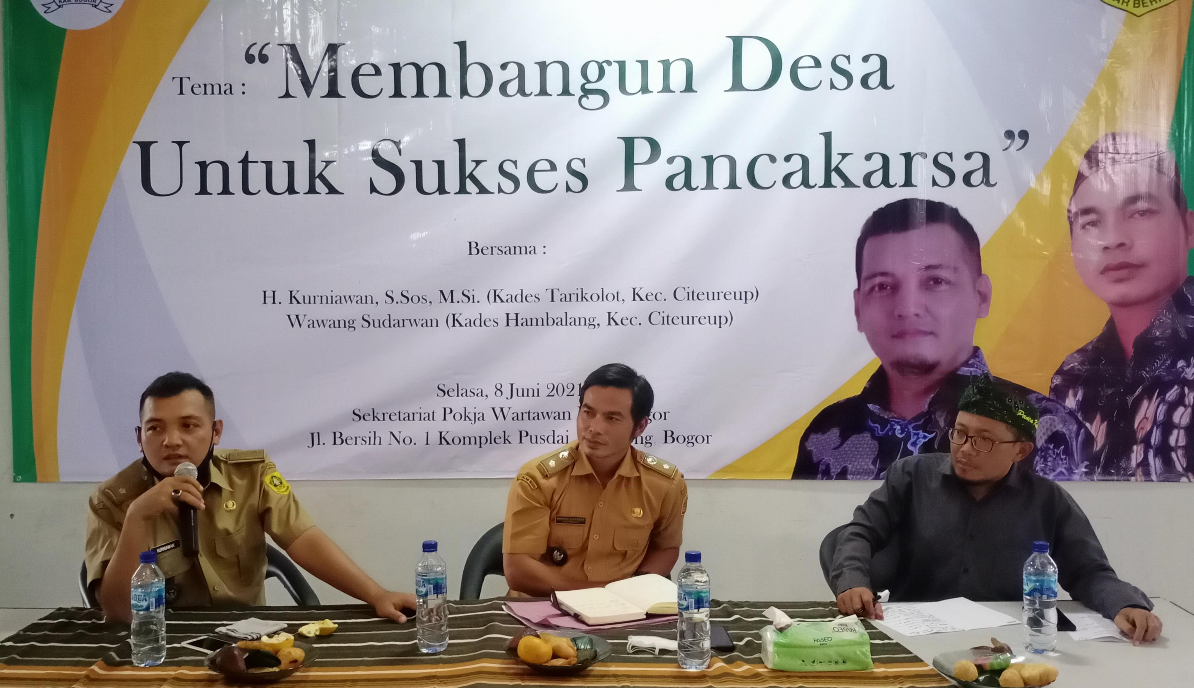 Semangat Pancakarsa Tingkat Desa Tergambar di Acara Ngariung Pancakarsa Pokja Wartawan Kabupaten Bogor