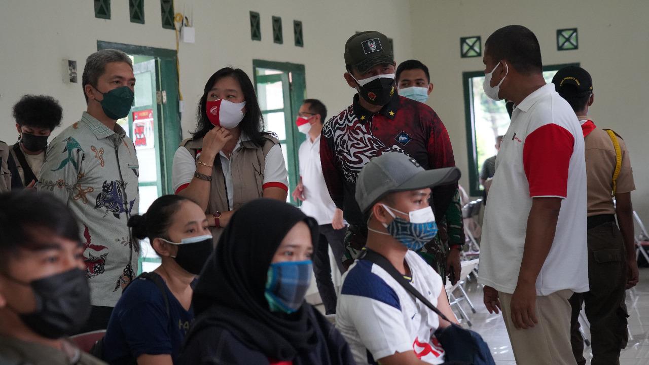 Danrem 061/SK Dukung Percepatan Vaksinasi Nasional